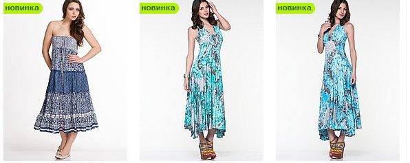 Женская мода красивые летние платья фото