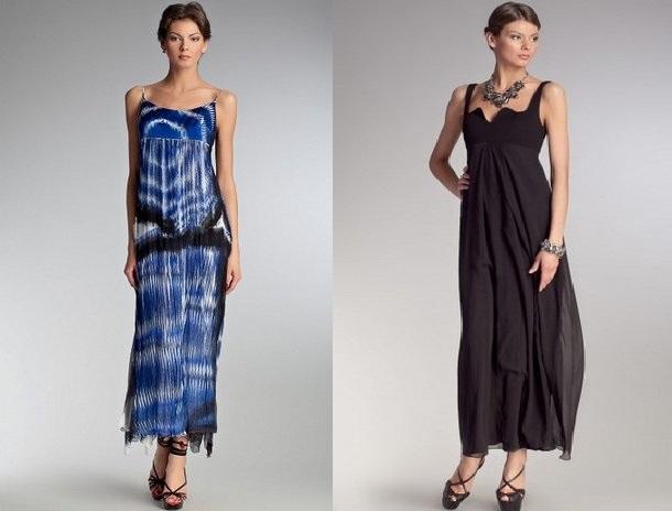 806834fd4e5 Синее и черное длинное платье из шелка в Topbrands Белое ...